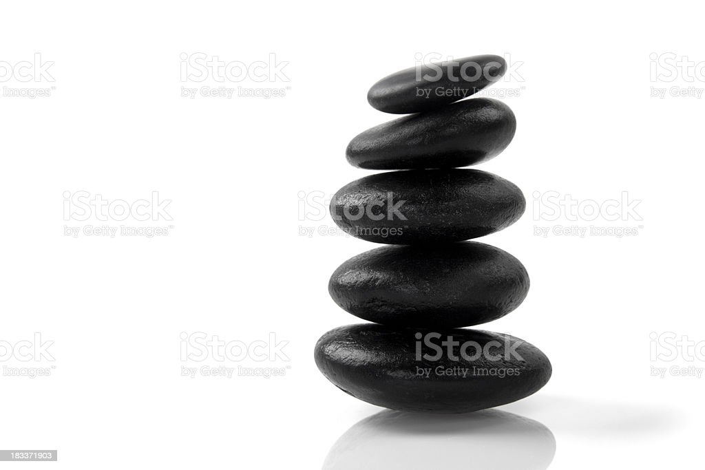 Stacked massage stones stock photo