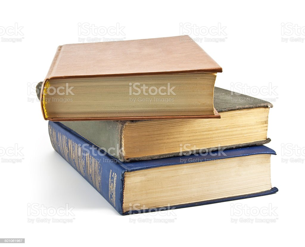Stacked old books royalty-free stock photo
