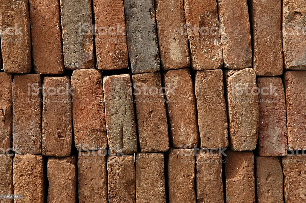 Stacked on end. stock photo