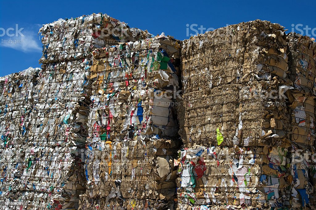 Stacked paper cubes royalty-free stock photo