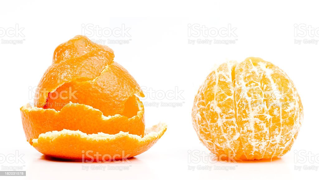 Stacked peeling from a clementine royalty-free stock photo