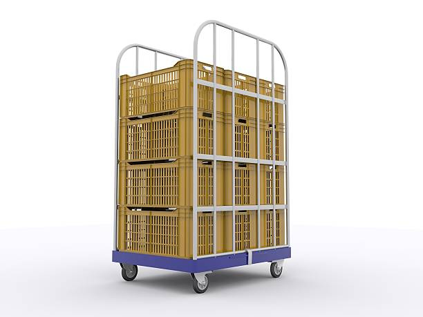 Stacked Plastic Crates stock photo
