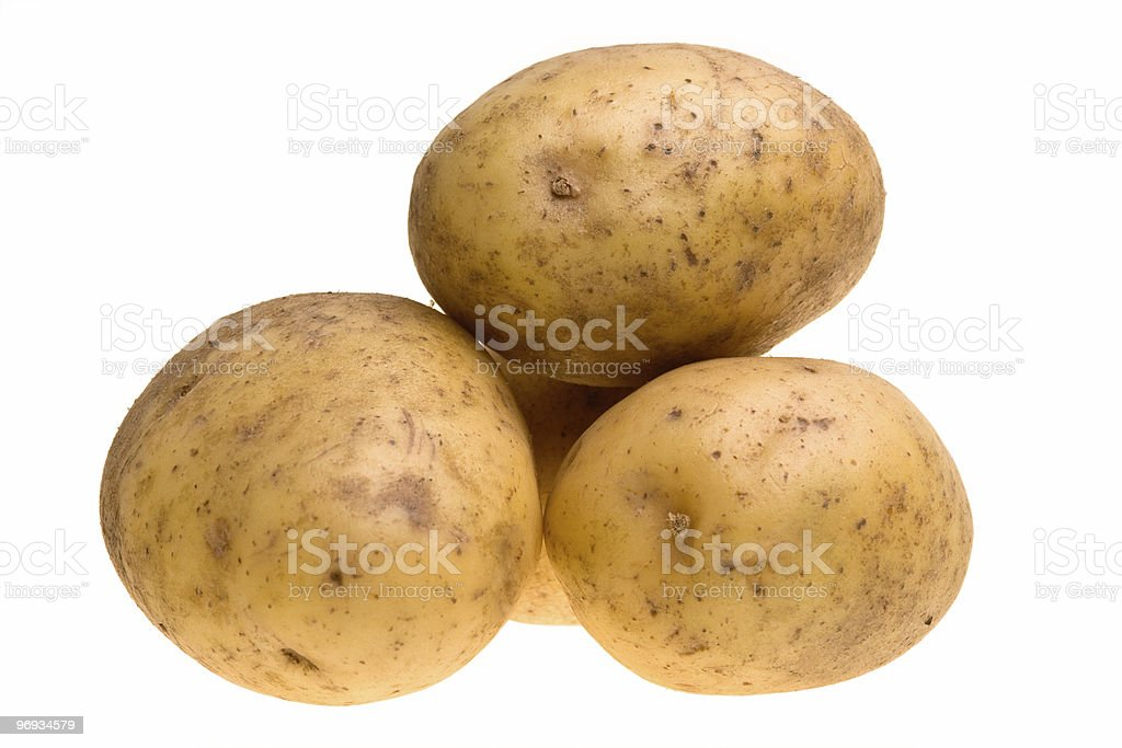 Stacked Potatoes royalty-free stock photo