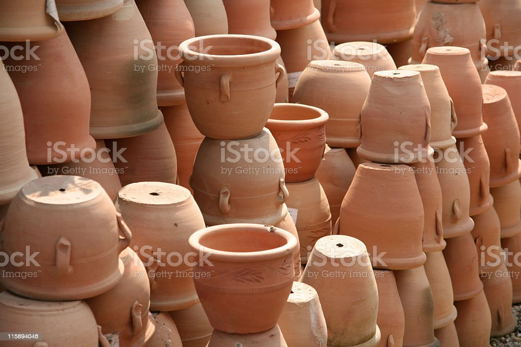 Stacked pots royalty-free stock photo