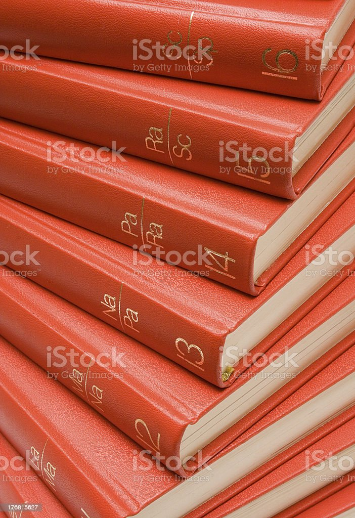 Stacked Red Books royalty-free stock photo
