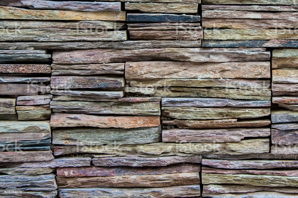 stacked rock slates stock photo