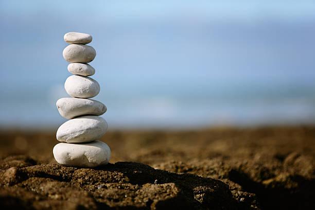 Apilado rocks - foto de stock