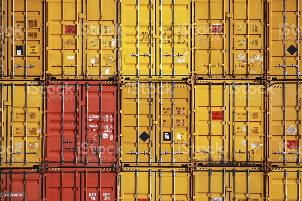 stacked shipping containers royalty-free stock photo