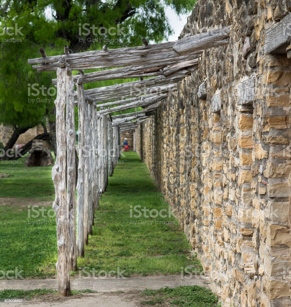 Stacked stone front porch stock photo download image now