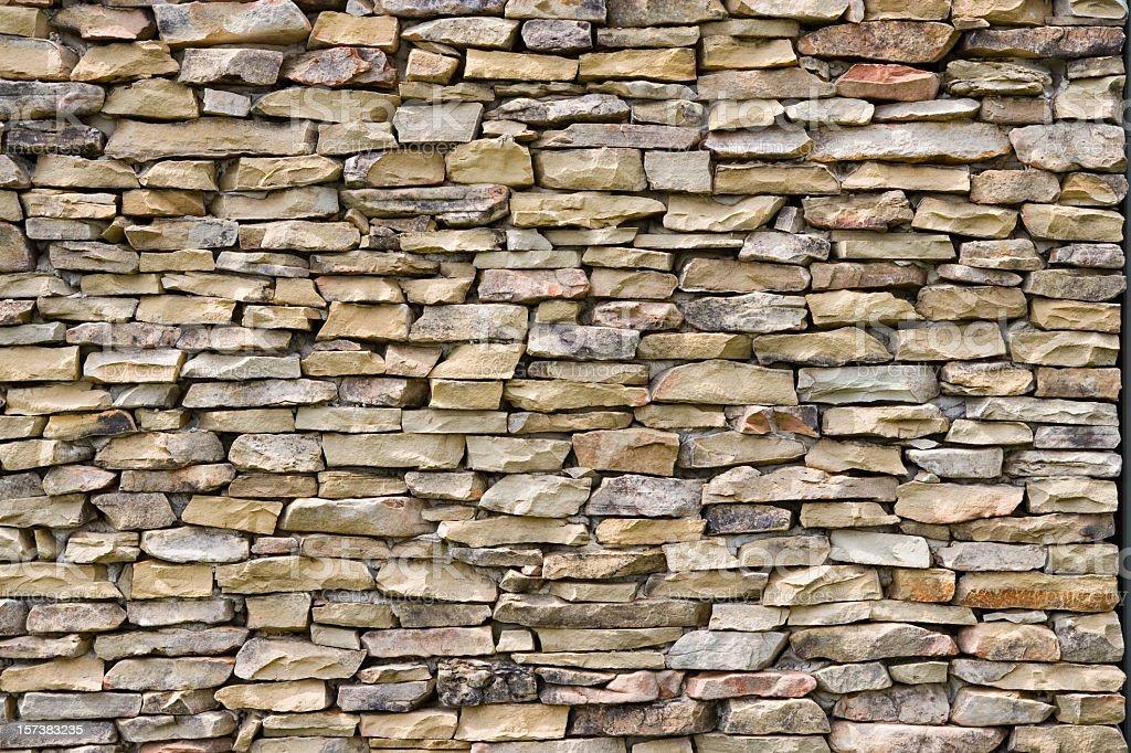 Stacked stone wall (XXL) royalty-free stock photo