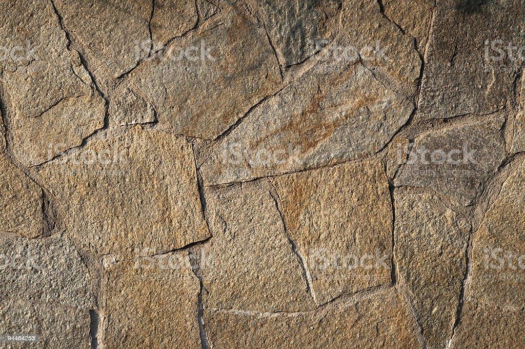 Stacked Stone wall royalty-free stock photo