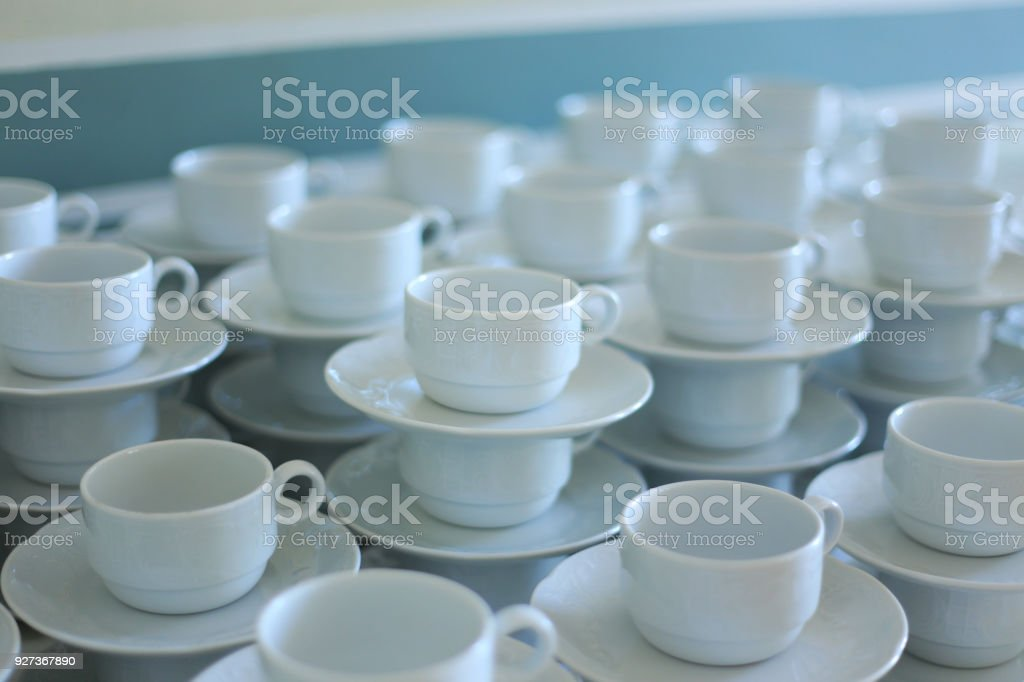 Stacked tea cups - Royalty-free Cafe Stock Photo