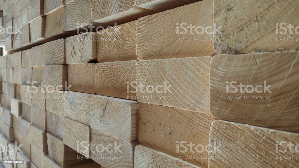 Stacked timbers background royalty-free stock photo