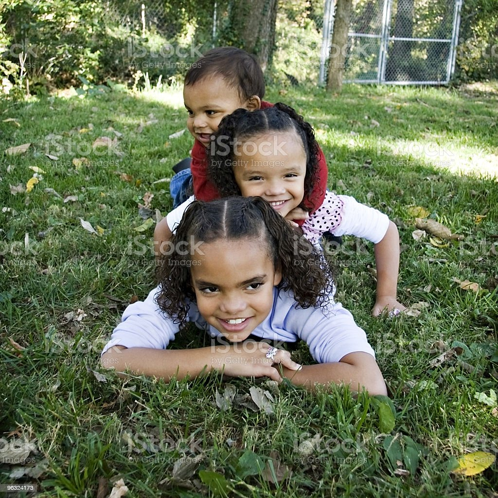 Stacked Up Children royalty-free stock photo