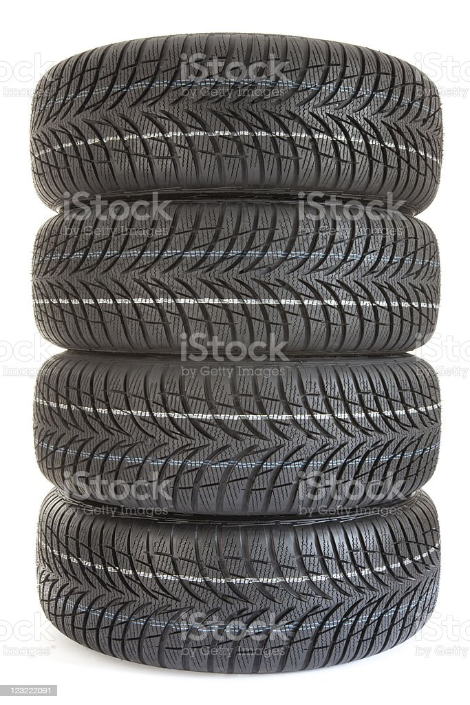 Stacked winterTires royalty-free stock photo