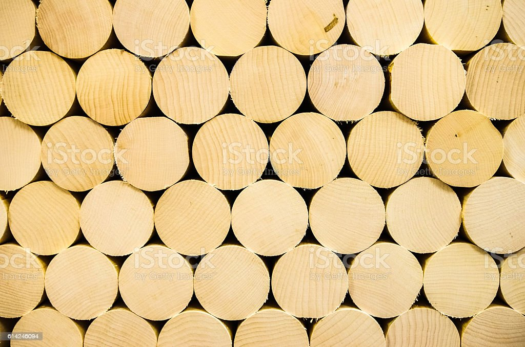 Stacked wood billets stock photo