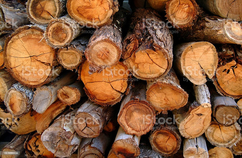 Stacked wood royalty-free stock photo