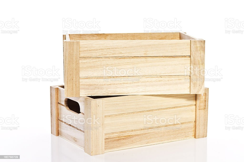 Stacked Wooden Boxes stock photo