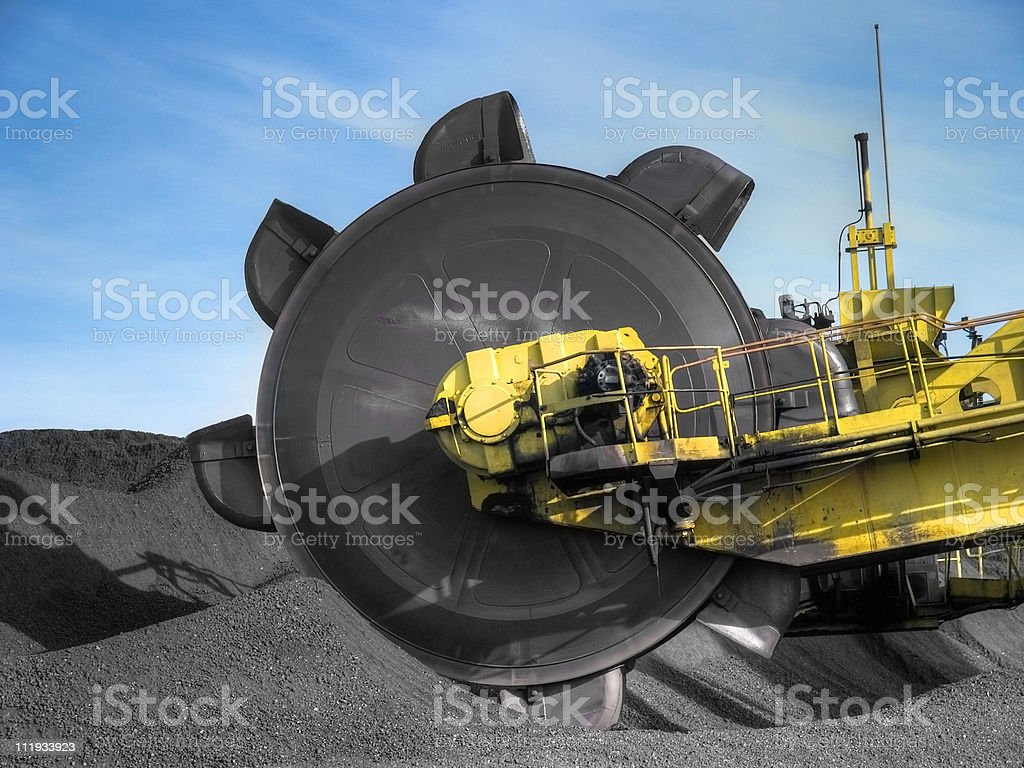 Stacker reclaimer royalty-free stock photo