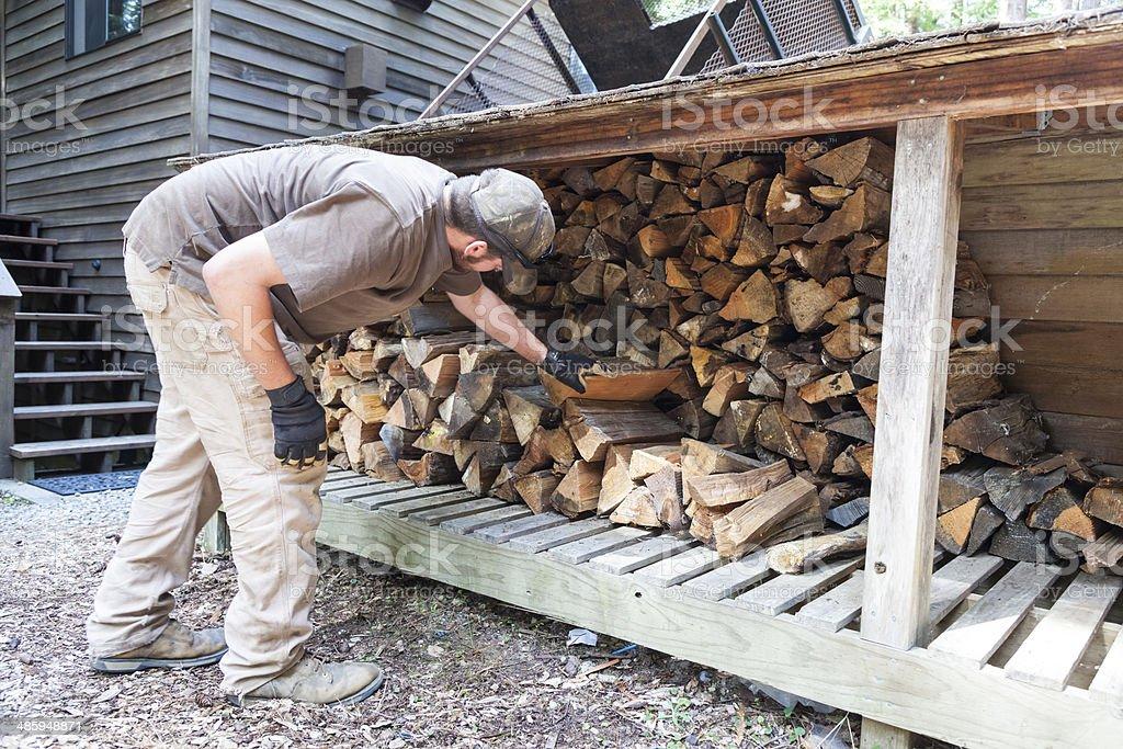 Stapeln Feuerholz – Foto