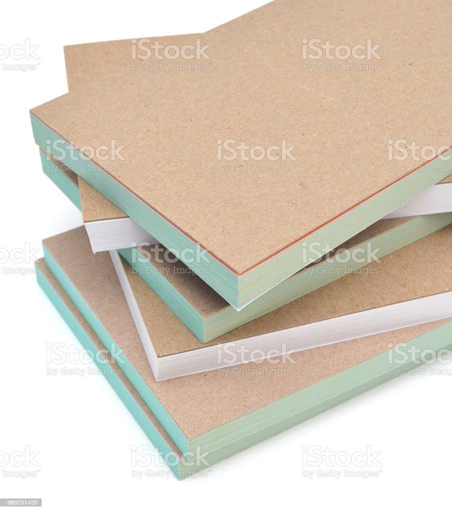stacking of notepad book isolate zbiór zdjęć royalty-free