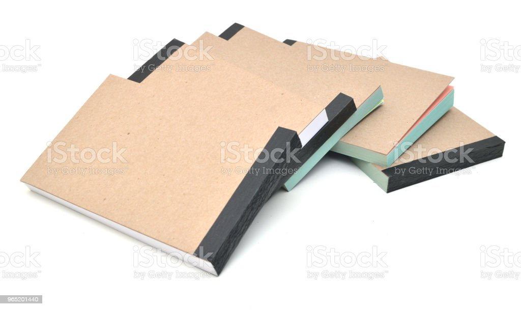 stacking of notepad book isolate royalty-free stock photo