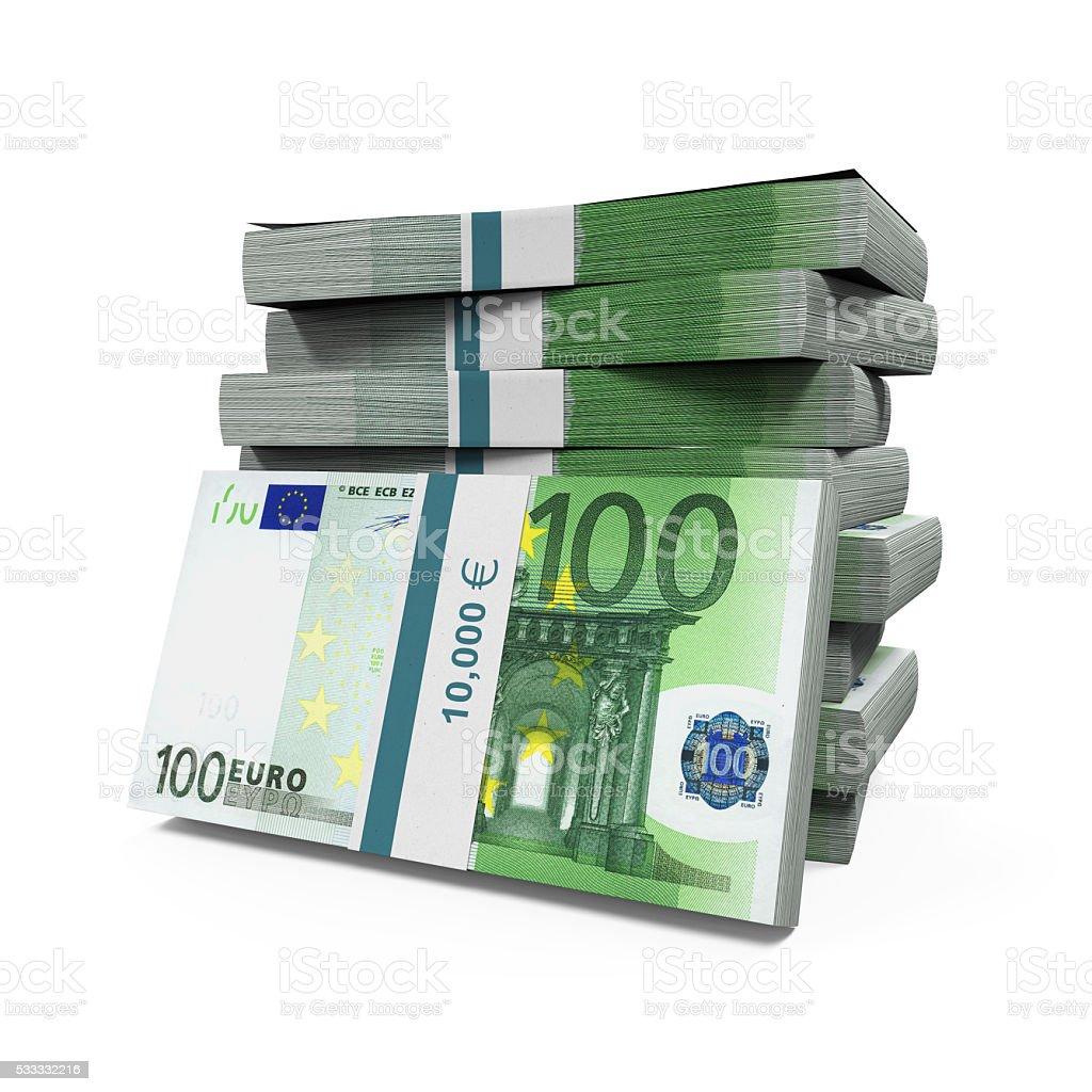 Pile de billets de 100 euros - Photo