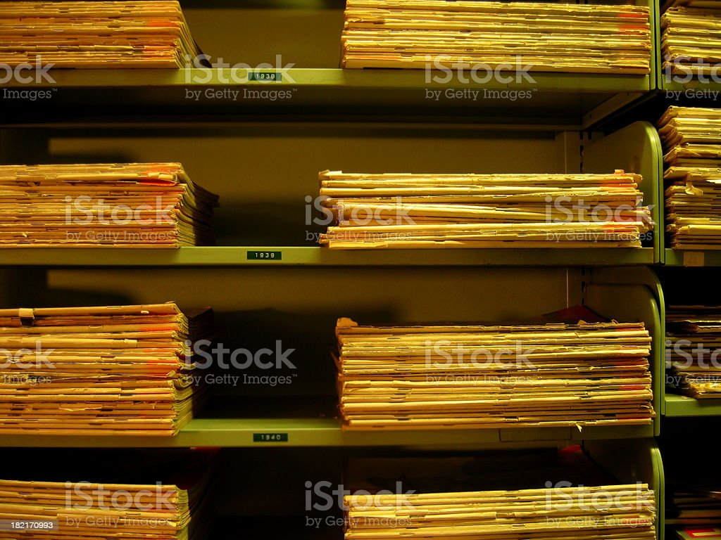 Stacks of Ancient Paper royalty-free stock photo