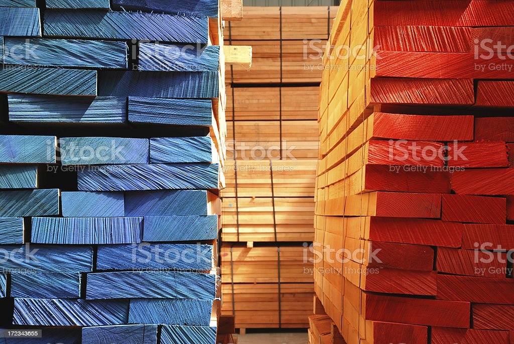 Stacks of boards royalty-free stock photo