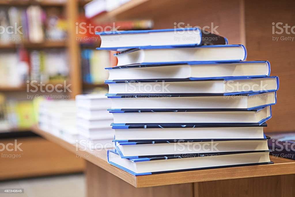 Stacks of books royalty-free stock photo
