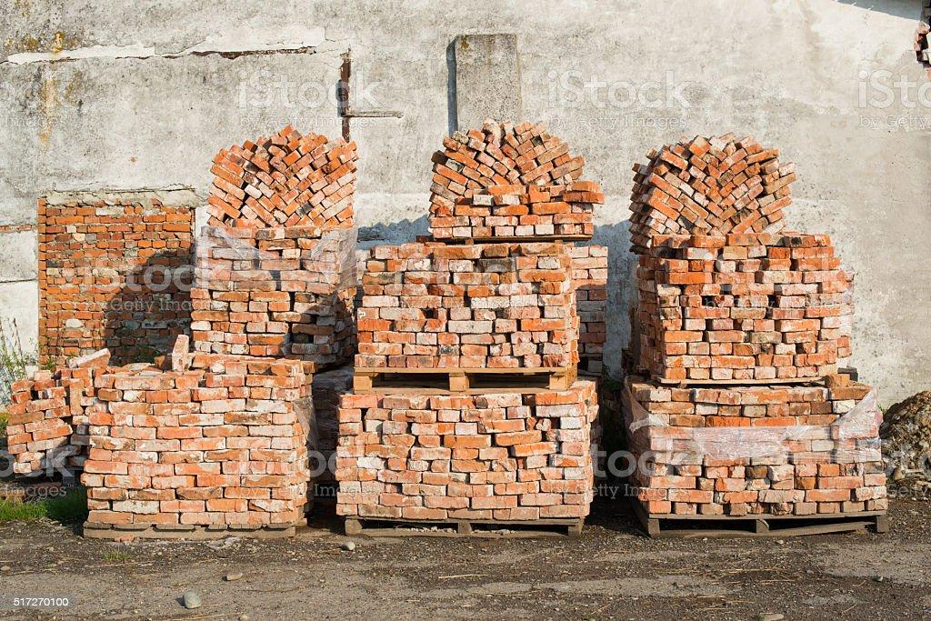 Stacks of bricks stock photo
