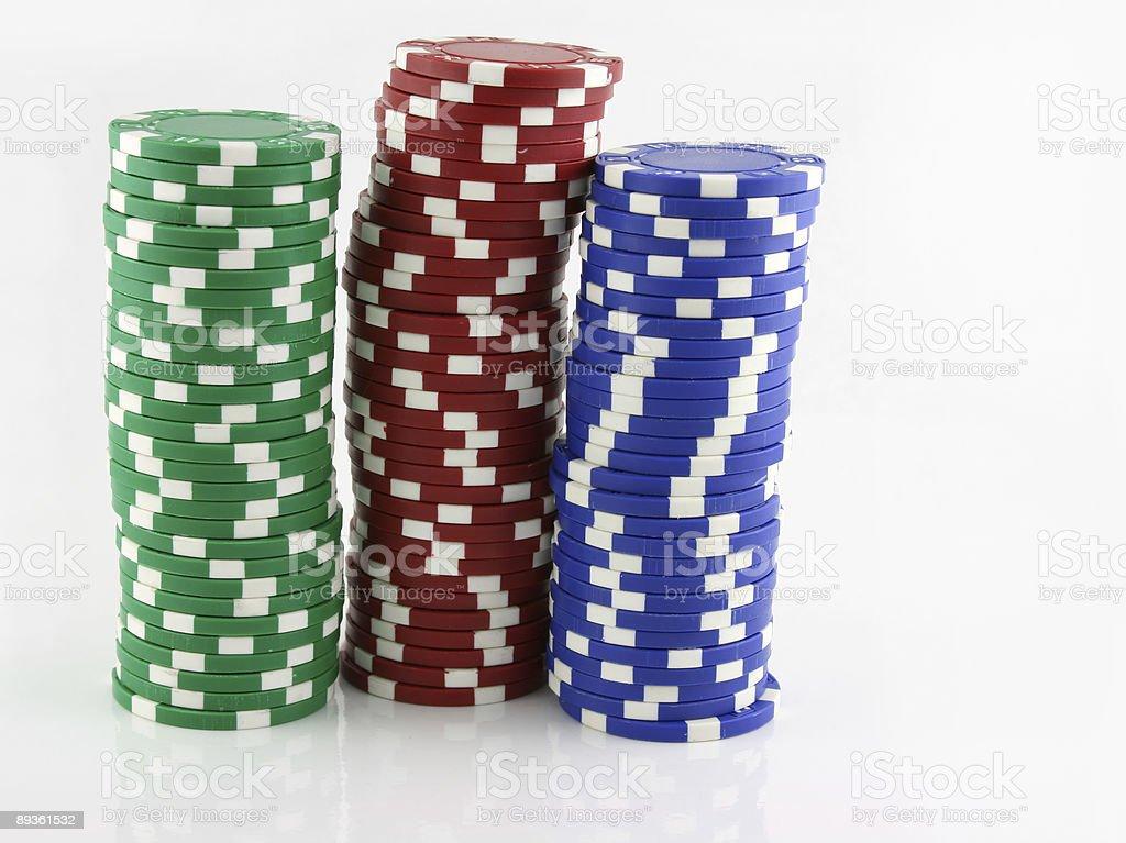 Stacks of Casino Chips royalty free stockfoto
