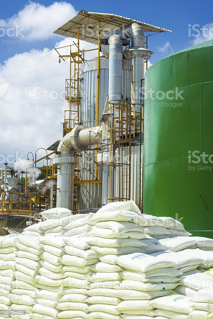 Stacks Of Chemical Sacks royalty-free stock photo