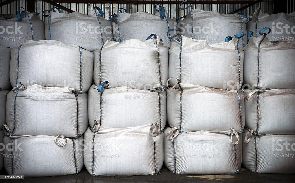Stacks Of Chemical Sacks stock photo