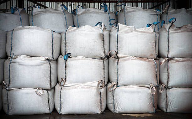 Stacks Of Chemical Sacks stock photo