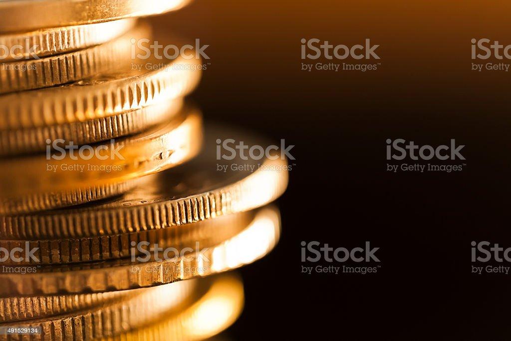 Stapel von Münzen Lizenzfreies stock-foto