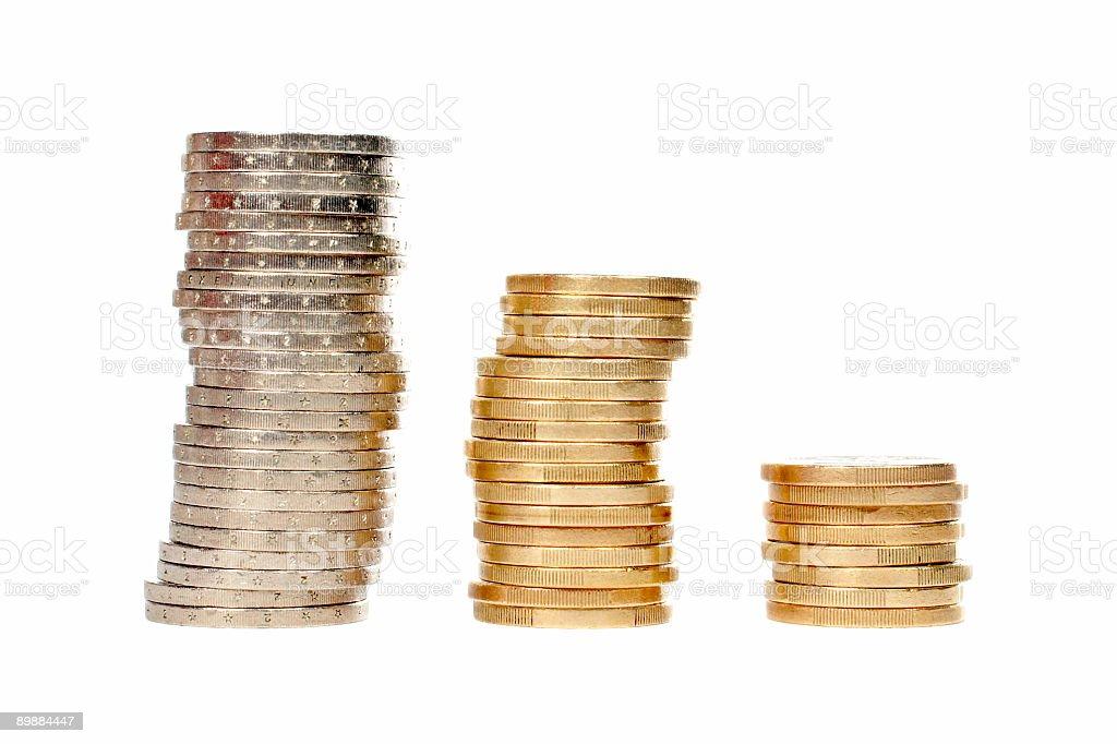 Un montón de monedas foto de stock libre de derechos