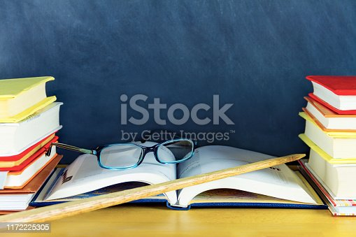 istock Stacks of colorful books 1172225305