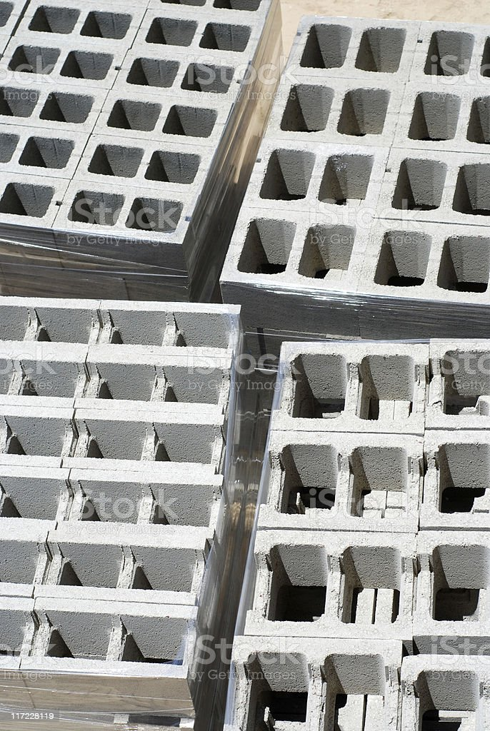 Stacks of concrete block royalty-free stock photo