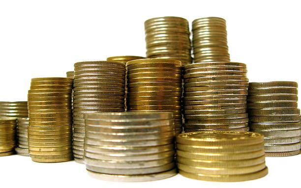Stapel von verschiedenen Münzen – Foto