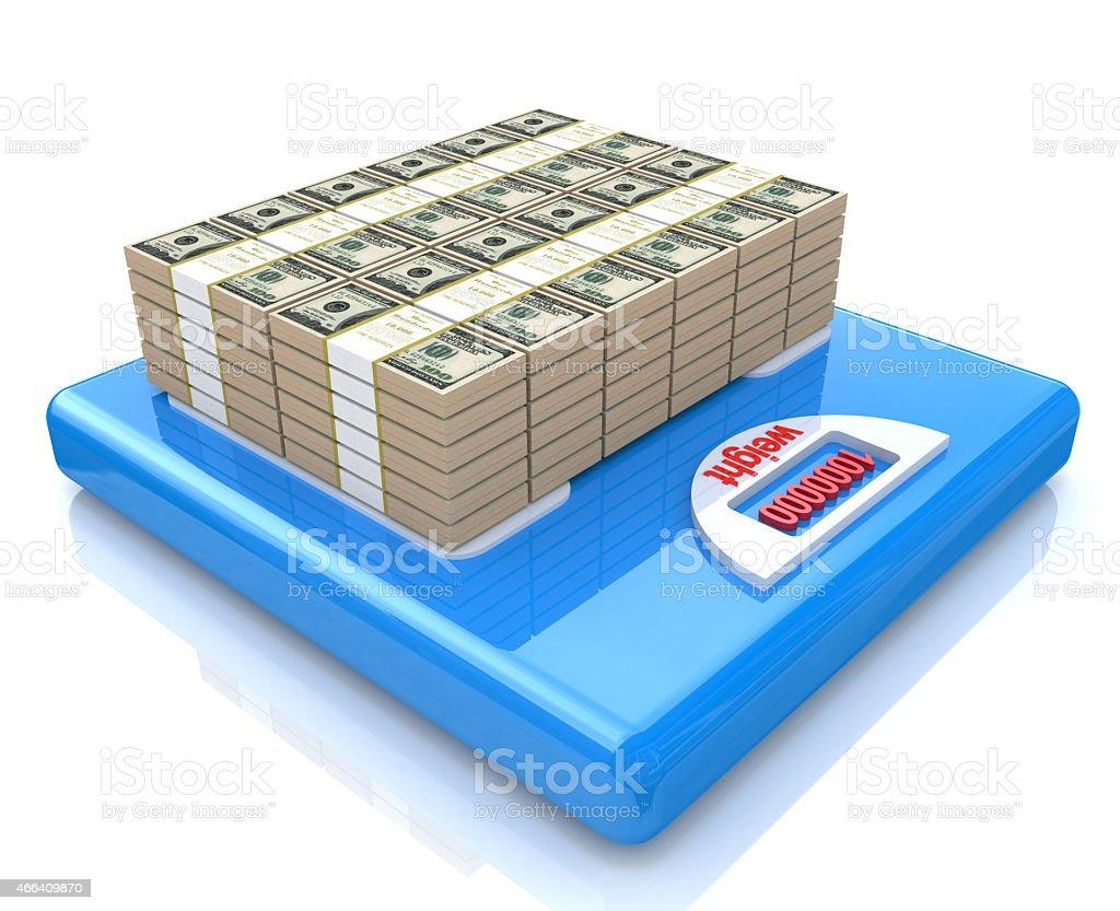 stacks of dollar bills - banking, financial industry, economy, accounting stock photo