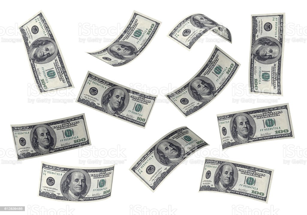 3D Stacks of Hundred US Dollars stock photo