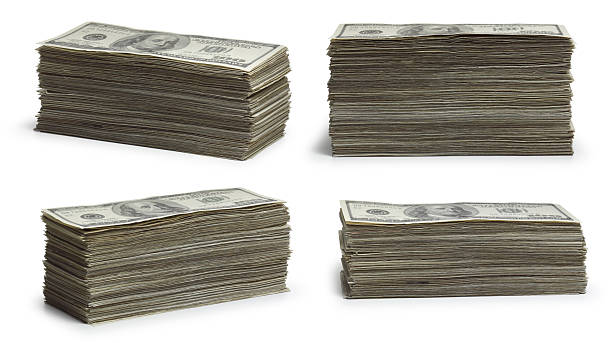 stacks of money - stack stock pictures, royalty-free photos & images