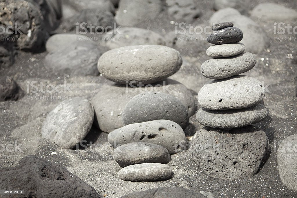 Stacks of pebbles royalty-free stock photo