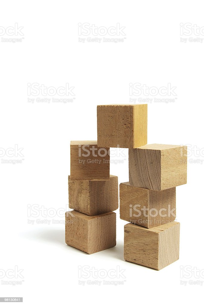 Stacks of Wooden Blocks royalty-free stock photo