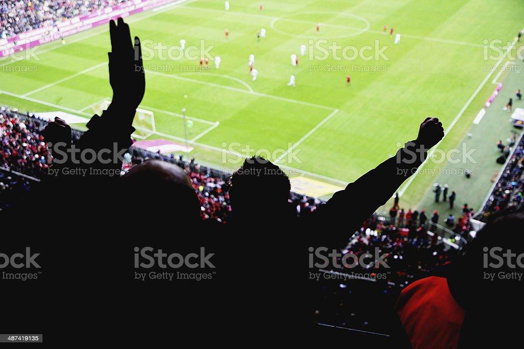 stadion cheer people stock photo