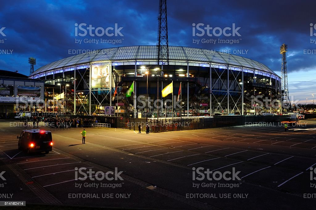 Stadion Feijenoord in Rotterdam stock photo