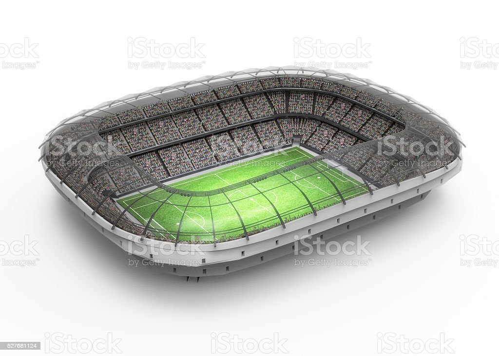 stadium 3d rendering stock photo