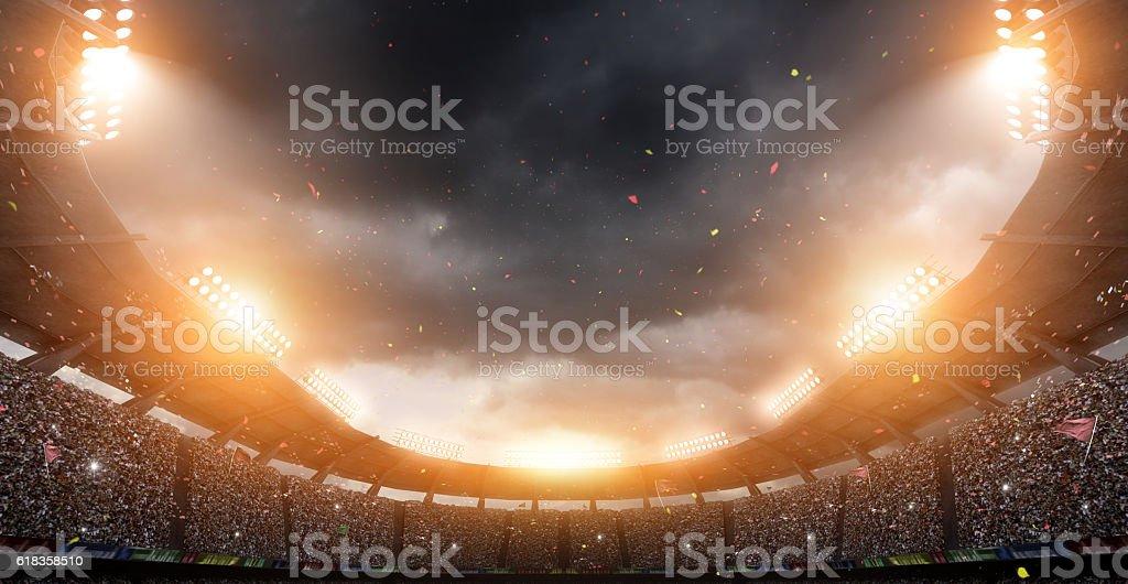 stadium, 3d rendering - foto de acervo