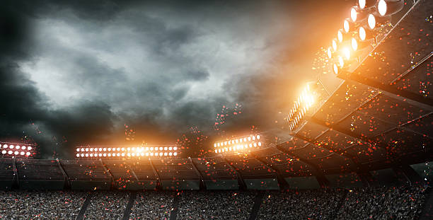 stadium, 3d rendering - light effect stock pictures, royalty-free photos & images